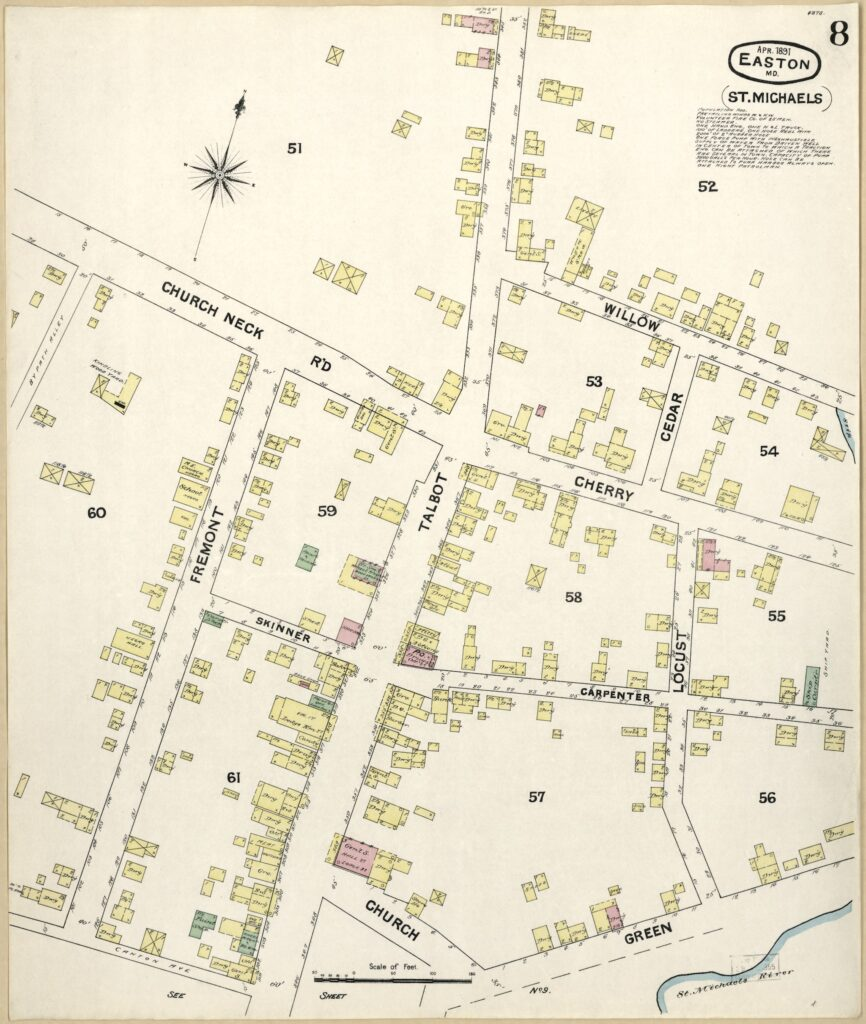 1891 map of St. Michaels