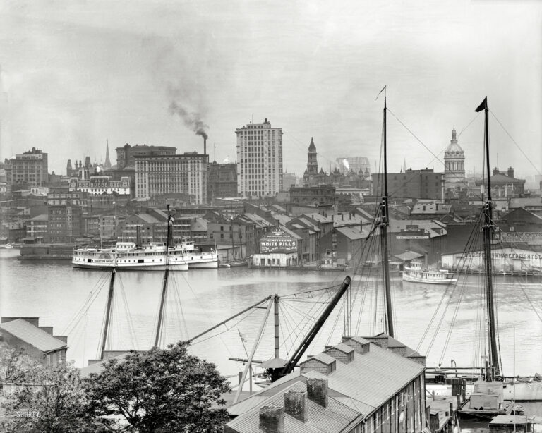 "Maryland circa 1903. ""Baltimore from Federal Hill."" Along with a word from our sponsor. 8x10 inch glass negative, Detroit Publishing Co."