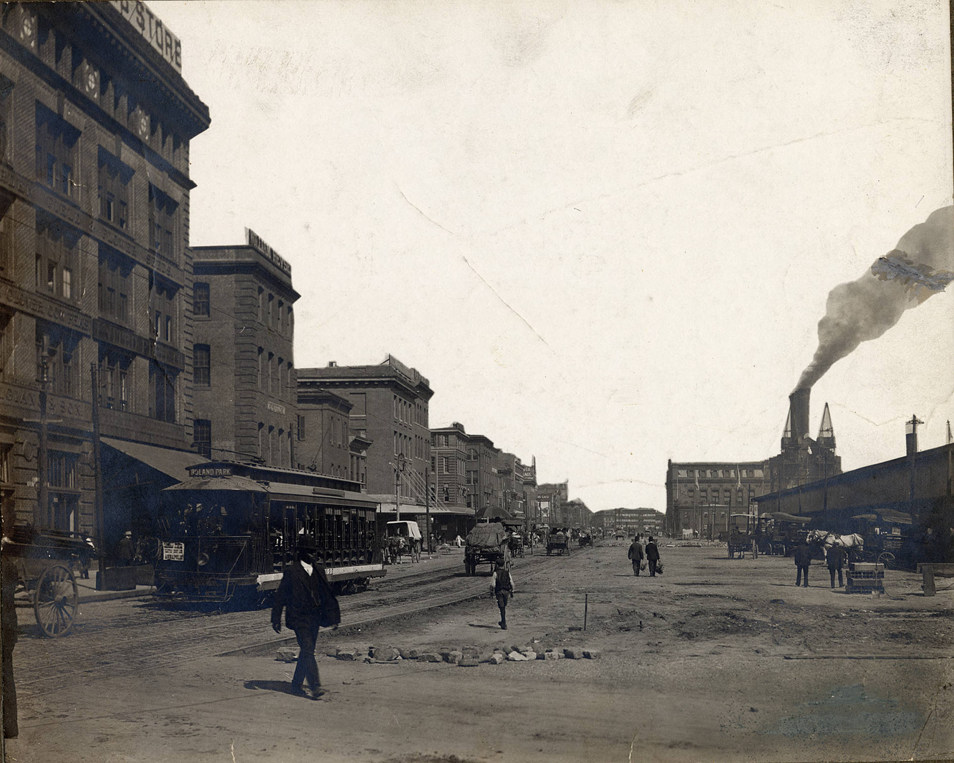What Did East Pratt Street Look Like in 1908?