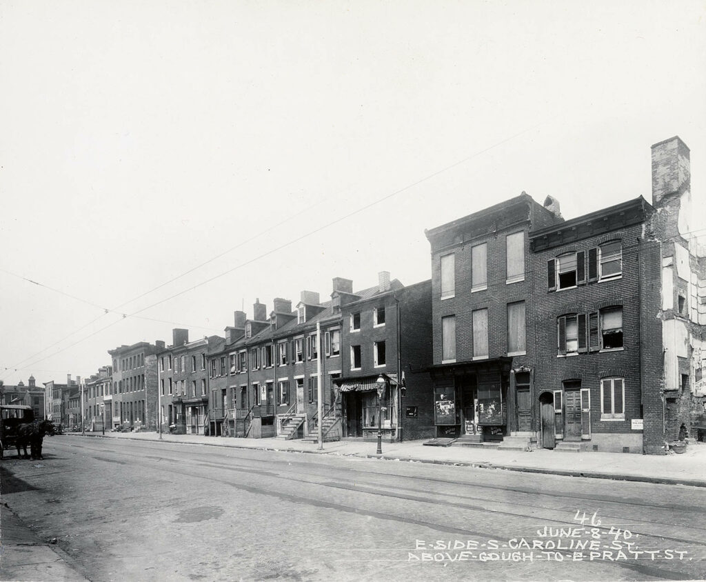 200 block of S. Caroline St. in 1940