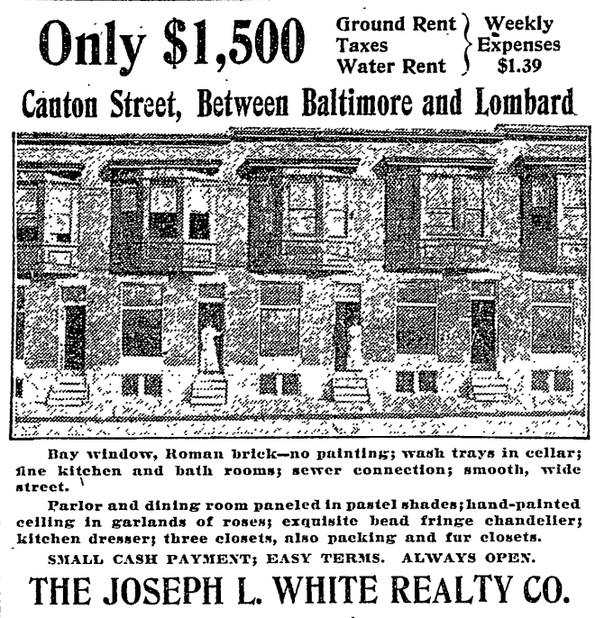 October 30th, 1909 real estate advertisement