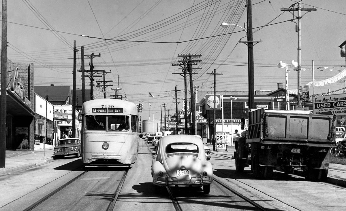 Streetcars in Towson Back in 1963