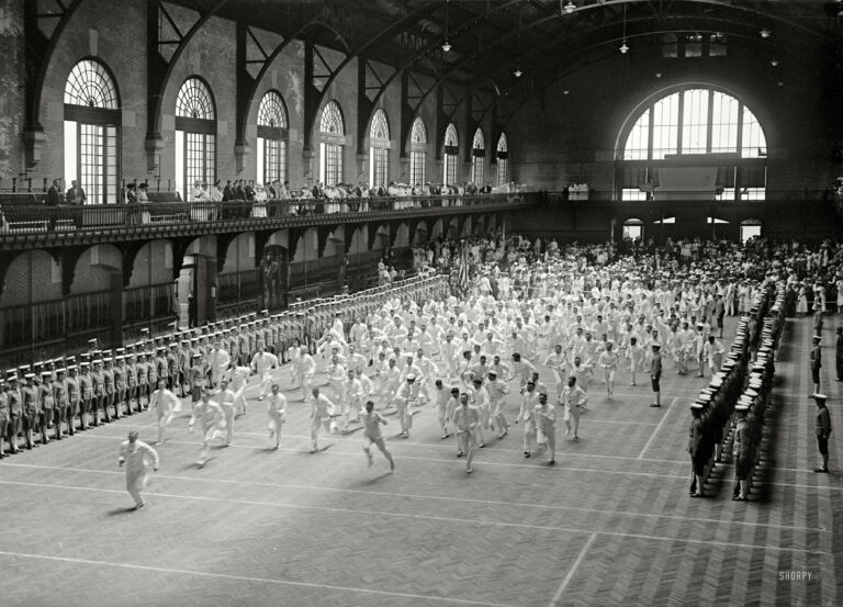 "Annapolis, Maryland, 1917. ""Graduation exercises, U.S. Naval Academy."" Harris & Ewing Collection glass negative."