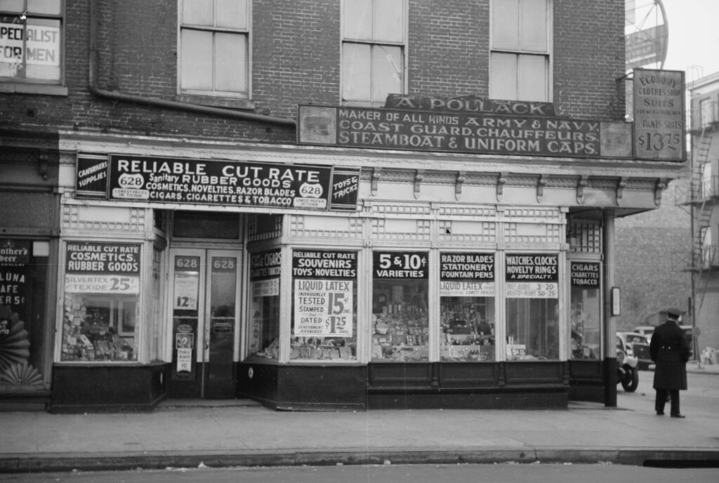 A. Pollack's novelty store, 628 East Baltimore Street, Baltimore, Maryland