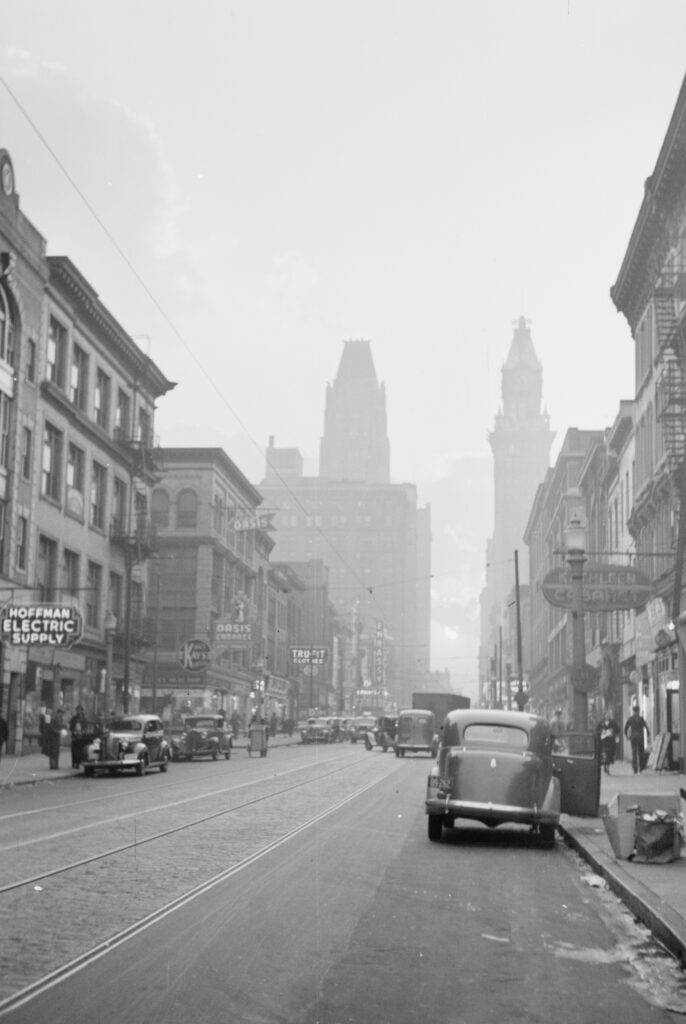 1939 view of Baltimore