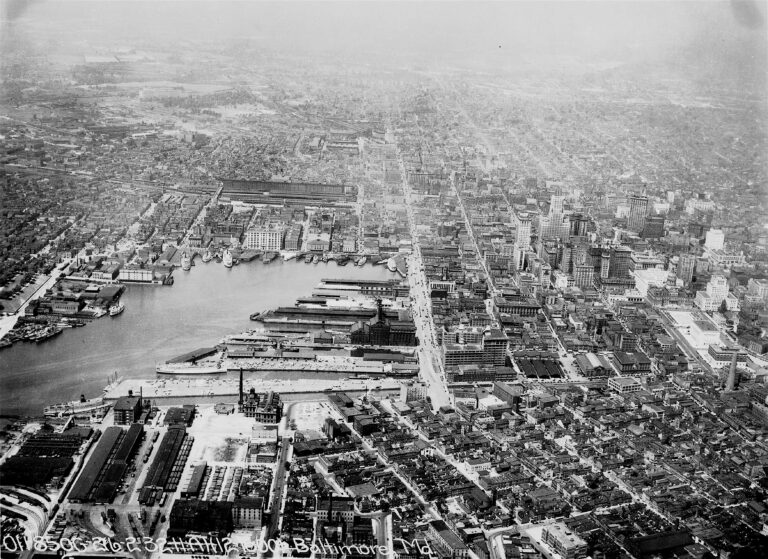 Baltimore from the sky in 1932