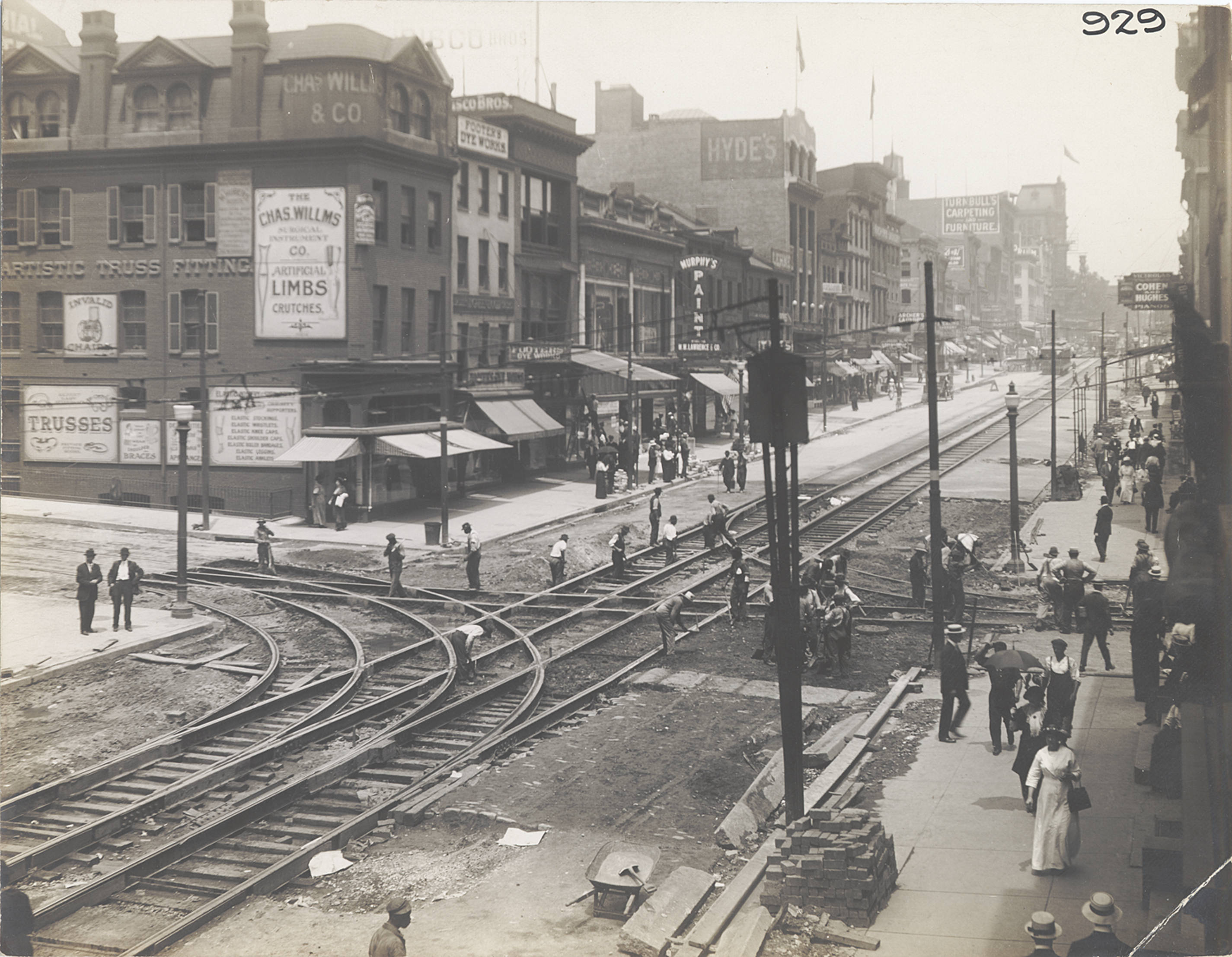 Then and Now: Howard St. and Saratoga St.