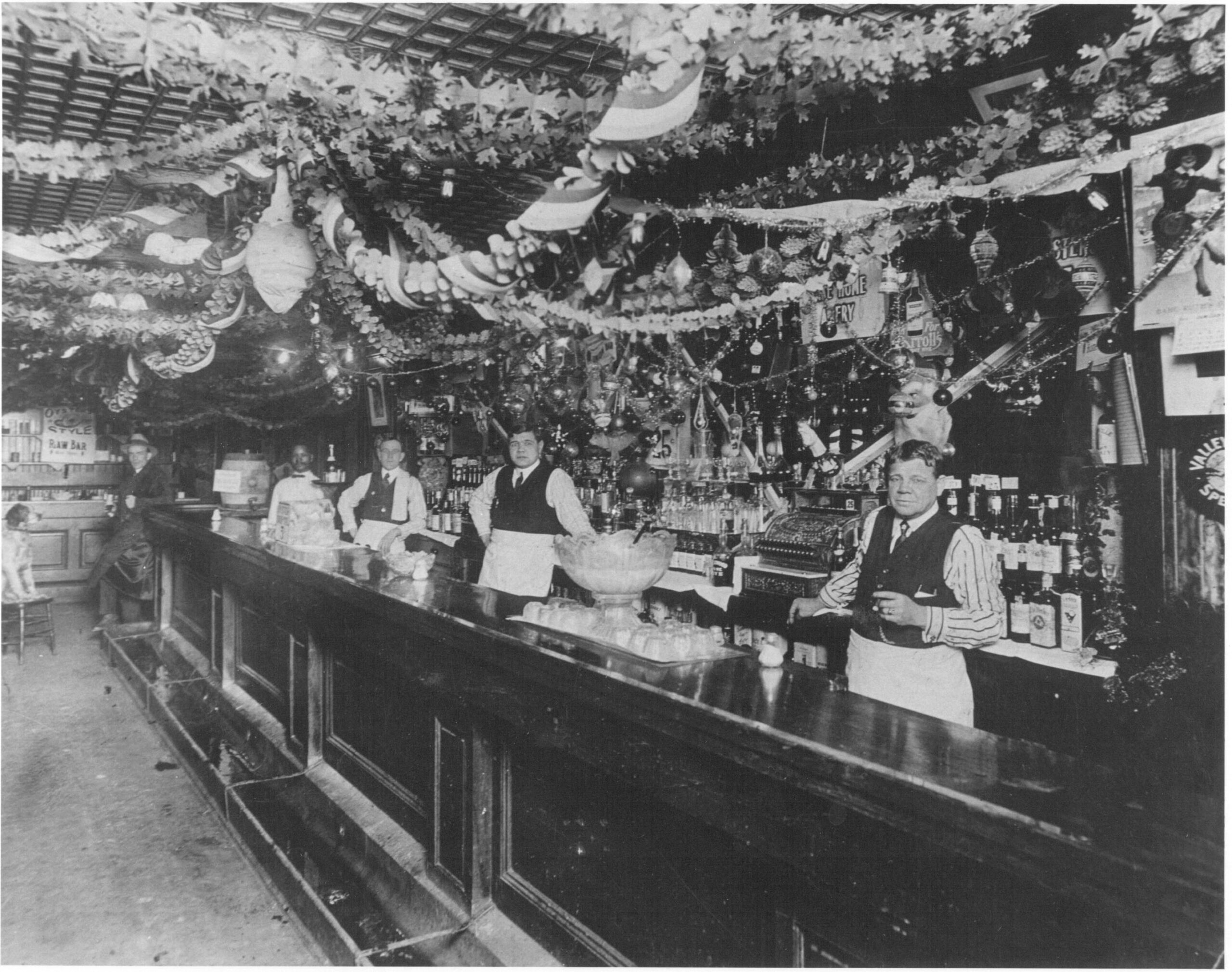 Babe Ruth and his father at the saloon
